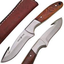 White Deer J2 Steel Hunters Guthook Skinner Knife Wood Grip Drop Point High-End