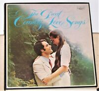 The Great Country Love Songs - Columbia 4 Vinyl LP Record Box Set