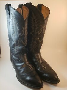 TONY LAMA 11.5 D mens Vaquero 2993 Black Pampas Pull Rodeo Western Cowboy Boots