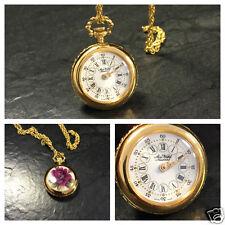 Aero Watch Neuchatel Umhängeuhr Uhr für eine Kette Damenuhr vergoldet Taschenuhr