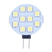 5 X G4 Pure White 10 5050 SMD LED Spot Light Lamp Bulb DC 12V P3W3