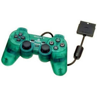 Official OEM Sony PlayStation DualShock 2 Green Wired Controller PS2 Video Game