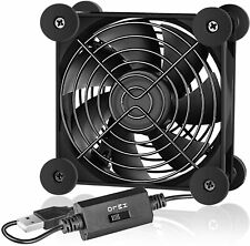Simple Deluxe 80mm Quiet USB Fan with Multi-Speed Controller for Receiver
