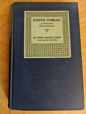 Joseph Conrad: A Personal Remembrance (1924, Hardcover)