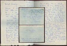 CEYLON AIR LETTER 1951 BENTOTA to FRANCE + MESSAGE INFLATION + BUCKINGHAM PALACE