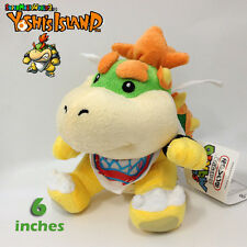 "New Super Mario Bros. 2 Plush Bowser Jr. Baby Bowser Toy Stuffed Animal Doll 6"""