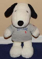"11"" Metlife Chicago Cubs Plush SNOOPY Doll Stuffed Animal in Gray Uniform Shirt"