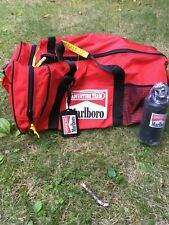 Vintage 1990s MARLBORO ADVENTURE TEAM Black And Red Duffel Bag