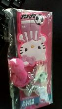 Hello Kitty Soccer player Backpack Clip On Key Chain Charms Pom-Poms