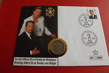 * Numisbrief  Belgien 1993 mit 20 Francs Münze * (ALB12)
