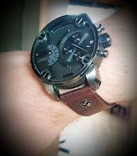 Diesel DZ7258  Herren Armbanduhr 2.0 Edelstahl echtes Leder Chronograph