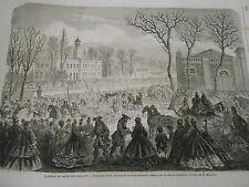 Gravure 1863 - Un Retour de Chasse sous Louis XIV