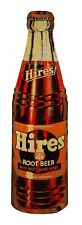 HIRES ROOT BEER SINCE 1876 GLASS SODA BOTTLE HEAVY DUTY USA MADE METAL ADV SIGN