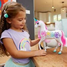 Barbie Unicorn Light Up Pretty Cute Girls Horse Toy Animal Brush Hair Mane Kids