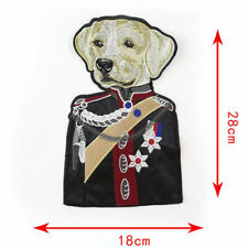 Écusson brodé Chien grand format chien tenue militaire Dog military suit patch