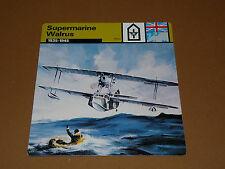SUPERMARINE WALRUS 1935-1945 RAF ENGLAND AVIATION FICHE WW2 39-45