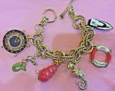 Rare Juicy Couture Nautical Charm Bracelet / Watch