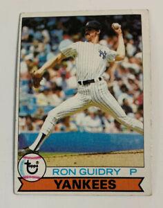 1979 Ron Guidry # 500 New York Yankees Topps Baseball Card NY Miscut HOF