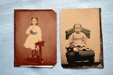 Two Tin Types of a Little Girl, Circa 1870's