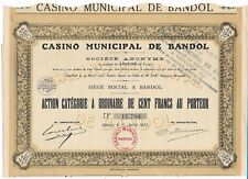 Action CASINO Municipal de Bandol 1930  (11784)