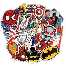 50x Pcs Super Hero Stickers Superman Batman Captain America Iron Man Hulk Kids