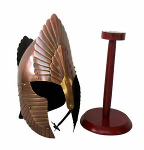 Medieval elendil lord of ring helmet with wooden stand halloween gift item