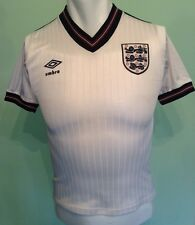 ENGLAND VINTAGE HOME FOOTBALL SHIRT 1984-1987 SIZE 30-32 GC SEE DESCRIPTION