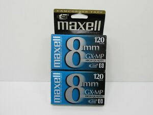 NEW SEALED 2 Pk Maxell GX-MP 120 High Quality 8mm Camcorder Video Tape