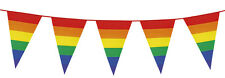 Giant Rainbow Stripe Pennant Flag Bunting Party Decoration  26Ft / 8M Long - New