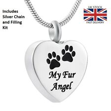 My Fur Angel Dog Cat Cremation Ashes Necklace Memorial Jewellery Pet Urn Pendant