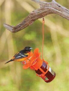 Songbird Essentials LARGE ORANGE BLOSSOM FLITELINE JELLY/JAM ORIOLE FEEDER    dm