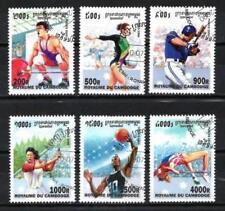 Sports Cambodge (5) série complète de 6 timbres oblitérés