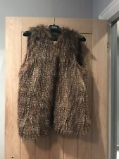 Monsoon Brown Faux Fur Gilet Size Medium
