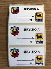 5 x ABARTH AGIP service stickers FIAT 124 500 600 850 PUNTO
