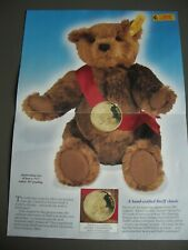 STEIFF THE WORLD'S FIRST TEDDY BEAR 661303 CHESTNUT BROWN MOHAIR NEW