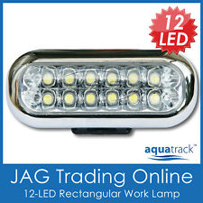 12V 12-LED WHITE LIGHT WORK DAYTIME RUNNING LAMP-CARAVAN/CABIN/BOAT/MARINE/TRUCK