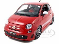 2008 FIAT ABARTH 500 RED 1:18 DIECAST MODEL CAR BY BBURAGO 11028