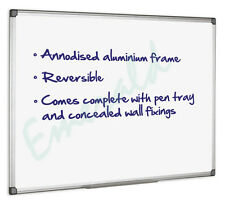 Dry Wipe Magnetic Drywipe White Board 900 x 600mm Same Day Dispatch