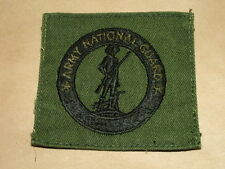 US ARMY NATIONAL GUARD RECRUITER BADGE EMBROIDERED OD OLIVE BLACK
