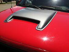 1997 2009 Dodge Ram 1500 Laramie Large Smooth Single Carbon Fiber Hood Scoop