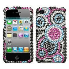 Bubble Crystal Diamond BLING Hard Case Phone Cover for Apple iPhone 4 4S