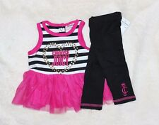 Choose Juicy COUTURE Girl's 24 mo 2T Tunic Top Shirt Dress Leggings Outfit Set