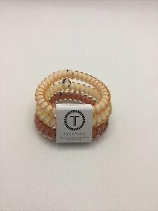 Teleties 3 Pack Small Hair Ties Love Of Nudes Ponytail Holder Bracelets NEW