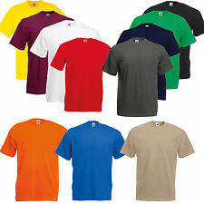 MENS CREW ROUND NECK FRUIT OF THE LOOM BOYS SUMMER COTTON PLAIN T TEE SHIRT TOP