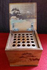 Vintage Japanese Wooden Cigarette Box