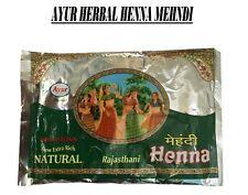 Ayur Rajasthani Henna Mehandi Powder Natural Hena Dark Brown Shade - 150gm