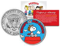 Peanuts SNOOPY vs. RED BARON JFK Half Dollar US Colorized Coin *Licensed*