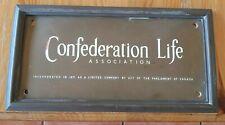 Confederation Life Association - Antique Sign/Plaque - Brass/Bronze - Very Heavy