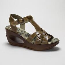 Fly London Women's Leather Wedge Sandals & Beach Shoes