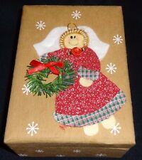 Quilted Christmas Tree and Angel Cards Box of 12 Cards and Envelope